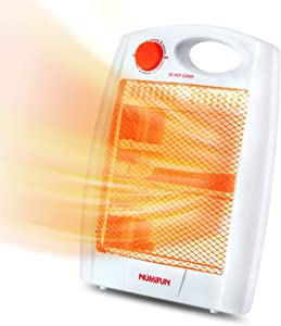 Infrared Space Heater Portable Radiant Quartz Heater for Indoor Use Home Office Bedroom with 2 Heat Settings, Quiet, Warm up Immediately, Overheat & Tip-Over Protection