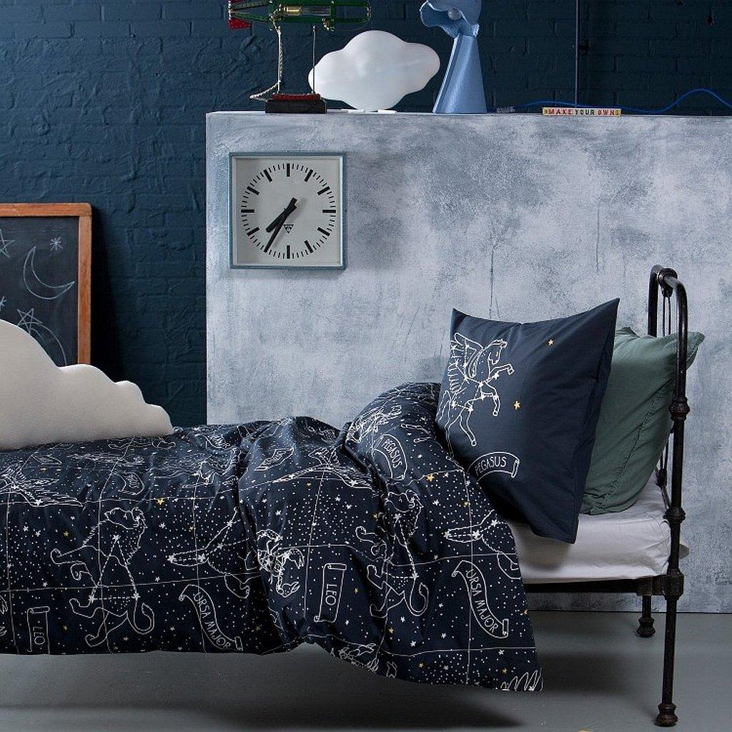 Damai Bettwäsche Zodiac Nightblue Leuchtet Nachts 135x200cm