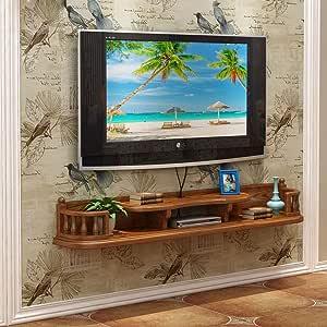 Mueble de televisión de Pared Dormitorio Sala Estante de Pared Estante Flotante Tablero de TV Consola de TV Estante para Libros Set Top Box Reproductor de DVD storageshelf (Color : C): Amazon.es: