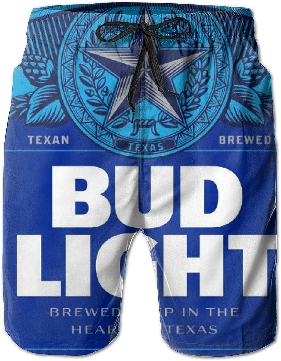 Bud Light Men's Quick Dry Swim Trunks Beach Shorts Board Shorts with Mesh Lining