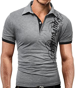 Camisas Hombre Blusa de Manga Corta de Moda para Hombres Camiseta ...