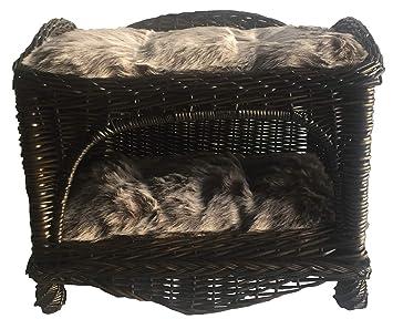 Ferribiella Cesta Cama Caseta de Mimbre para Perros y Gatos. Almohadas Incluidas: Amazon.es: Productos para mascotas