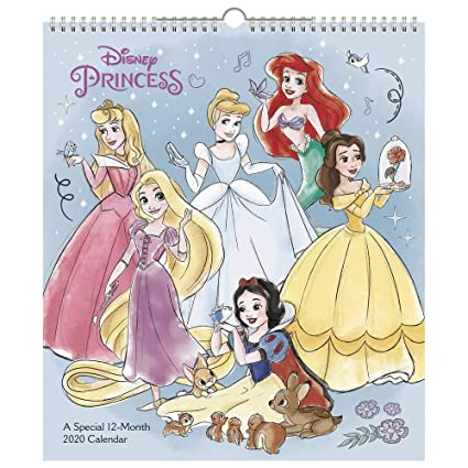 Calendrier 2020 Disney.Amazon Com 2020 Disney Princess Wall Calendar Special