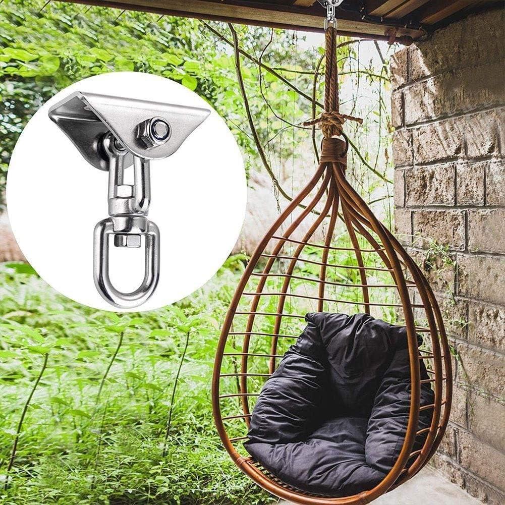 BEYTII Eye Hooks Screw Hanging Hammock Chair Stainless Steel 304 Swivel Hook Shackle Snap 450 Kg Capacity Rated for Indoor Outdoor Eye Bolt Ceiling Hook Color : B