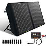 ECO-WORTHY 60W Foldable Solar Panel Charger for Portable Power Station & RV Battery, DC Output for Solar Generator, 20A…