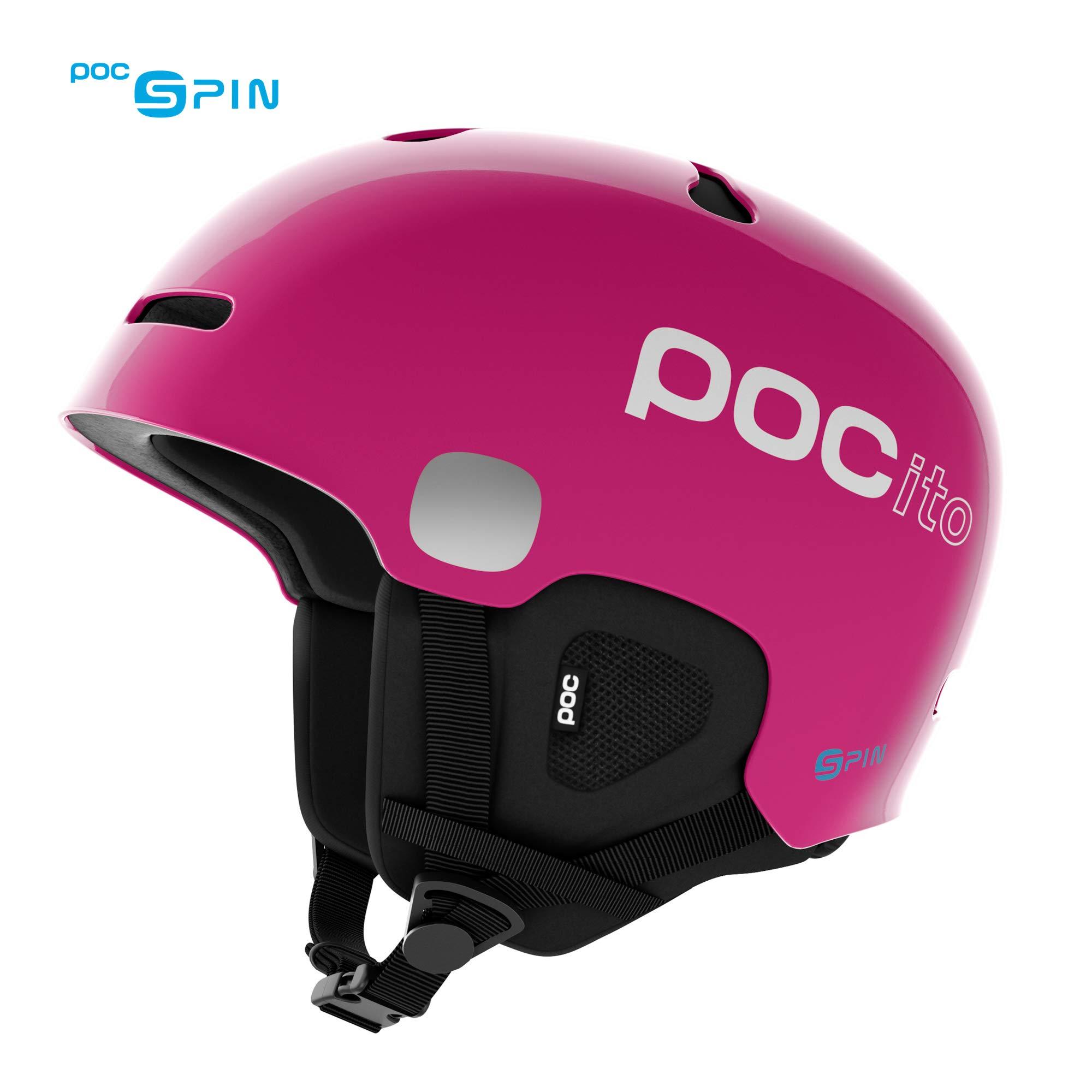 POC POCito Auric Cut Spin Kids Helmet, Fluorescent Pink, XS/S