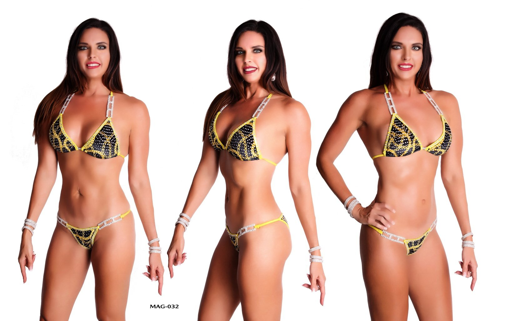 Elegantfitt Competition Bikini Suit wtih 5 Connectors and Swarovski Imitation Crystals
