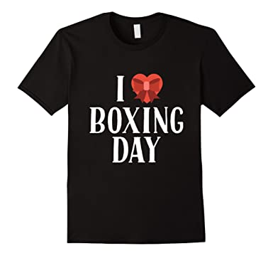 mens i love boxing day shopping after christmas sale cool t shirt 2xl black - Amazon After Christmas Sale