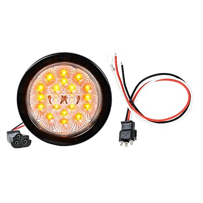 """GG Grand General 77081BP Spyder 4"""" Round LED Park/Turn/Clearance Includes Light, Grommet & Pigtail for Trucks, Trailers, Rs, Utility Vehicles: Automotive"""