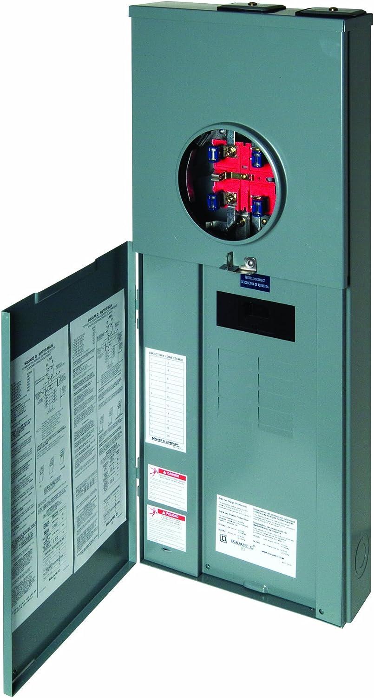 Square D Homeline 100 Amp 20-Circuit Outdoor Main Breaker Box Overhead CSED NEW