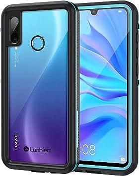 Lanhiem Funda Impermeable Huawei P30 Lite, Carcasa Resistente Al Agua IP68 Certificado [Protección de 360 Grados], Carcasa para Huawei P30 Lite con Protector de Pantalla Incorporado, Azul: Amazon.es: Electrónica