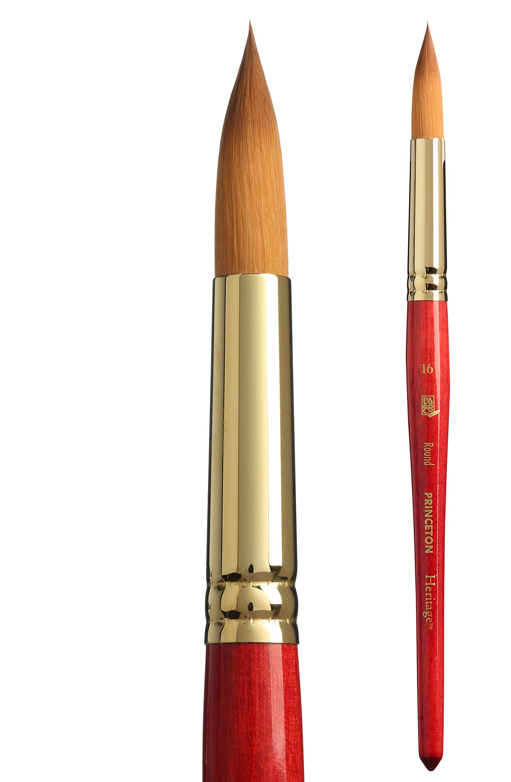 Princeton Heritage, Series 4050, Synthetic Sable Paint Brush for Watercolor, Round, 16