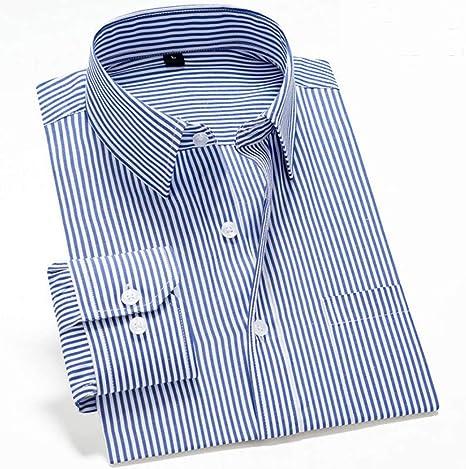 CUIAIDING Camisa Camisas de Vestir para Hombre clásicas de Calidad Ropa de Manga Larga Camisa a Rayas de Hombre Formal Informal Camisa Negra de algodón de Corte Slim: Amazon.es: Deportes y aire