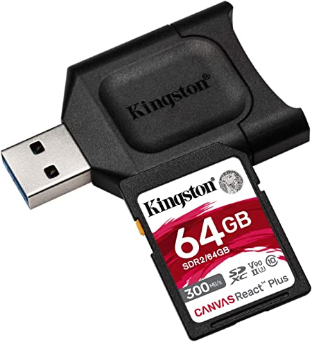 SanFlash Kingston 64GB React MicroSDXC for Sony Xperia P with SD Adapter 100MBs Works with Kingston