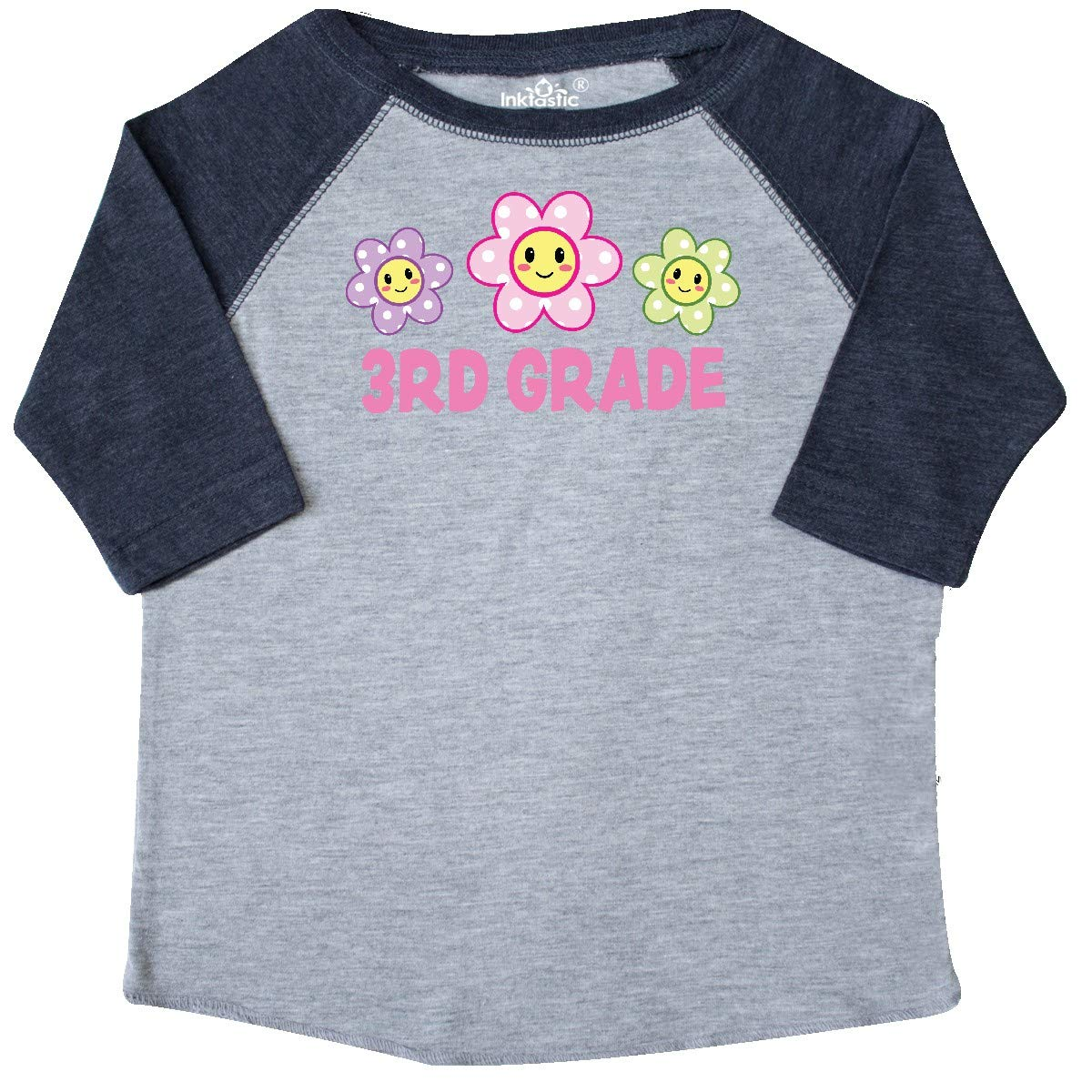 inktastic 3rd Grade with Polka Dot Flowers Toddler T-Shirt