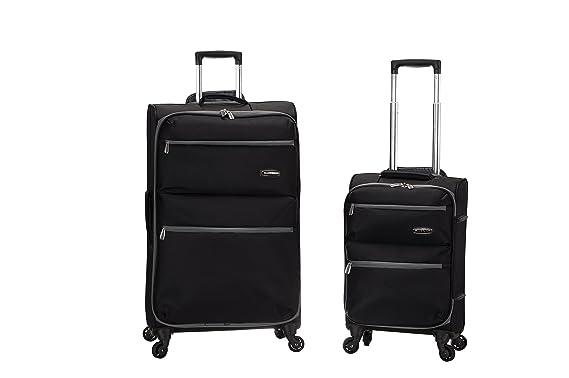 Amazon.com | Rockland Gravity 2 Pc Light Weight Luggage Set, Black ...