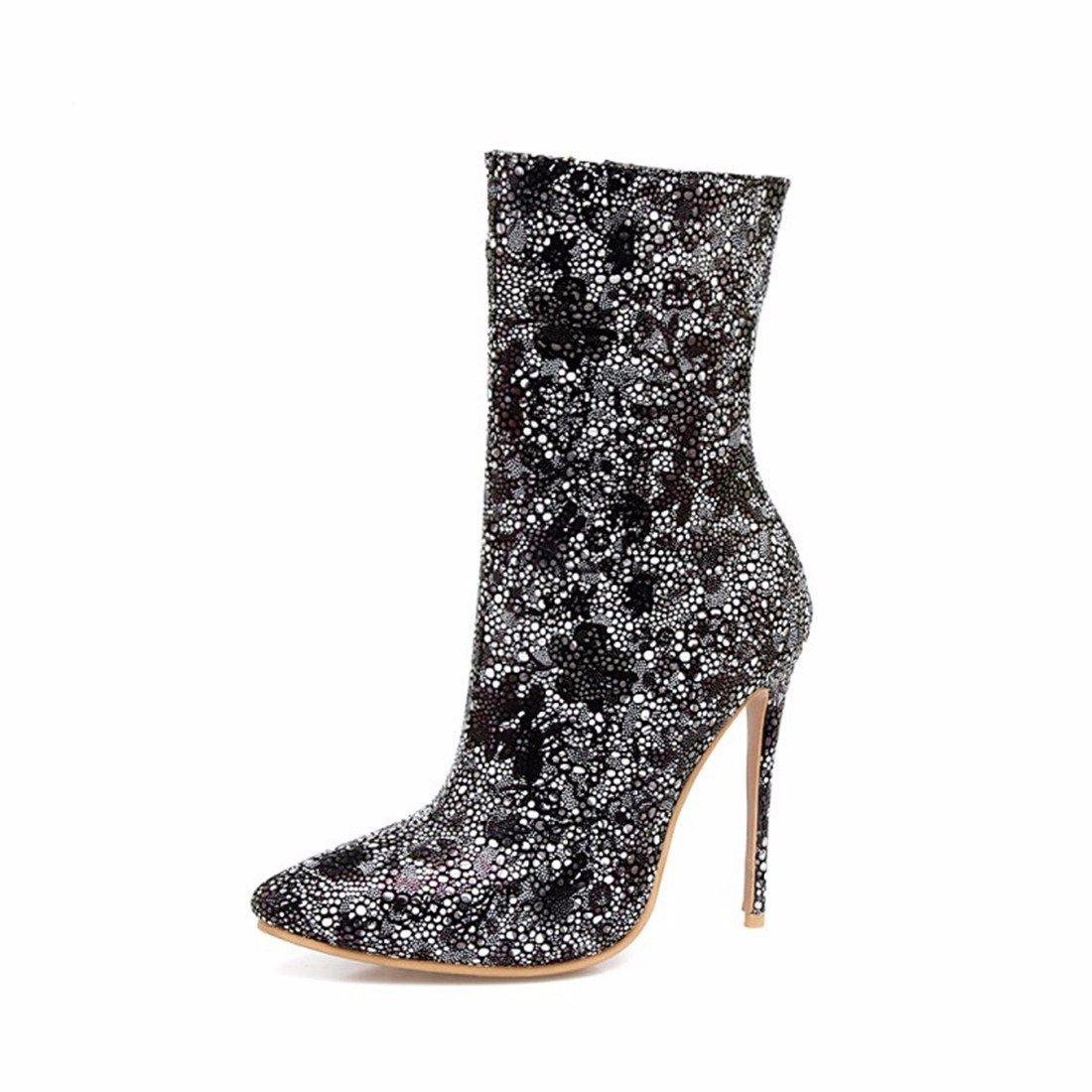 Noir Européenne et Américaine classique hautes chaussures de talon haut talon US9   EU40   UK7   CN41