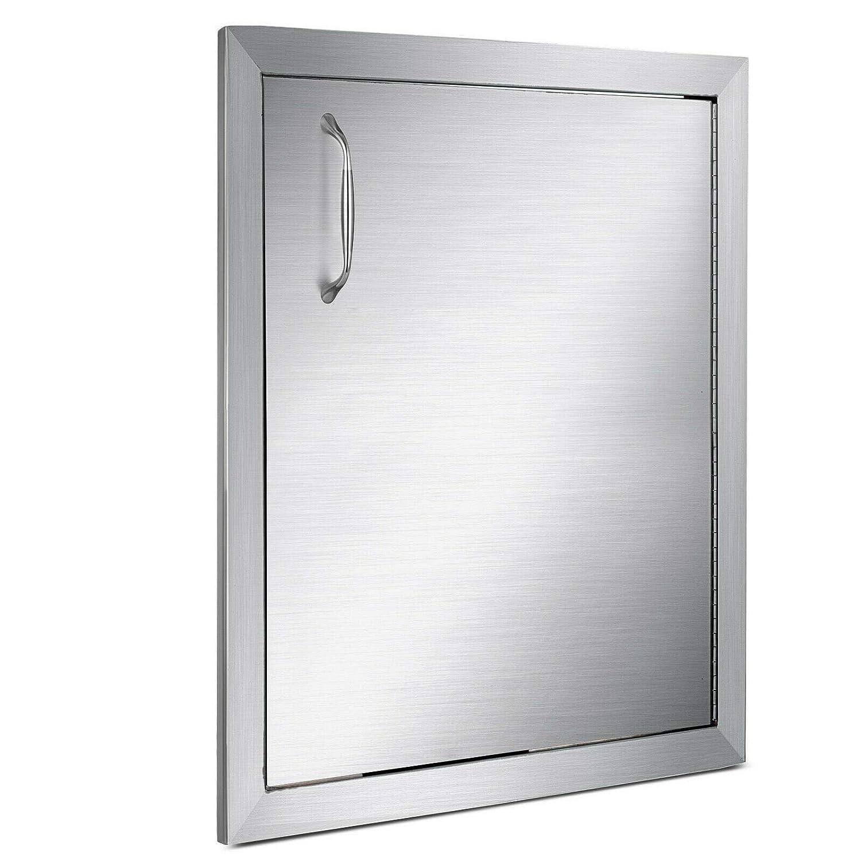 BuoQua BBQ Access Door 18 x 24 Inch Vertical Island Door Stainless Steel Right Hinged Single Access Door Flush Mount for Outdoor Kitchen