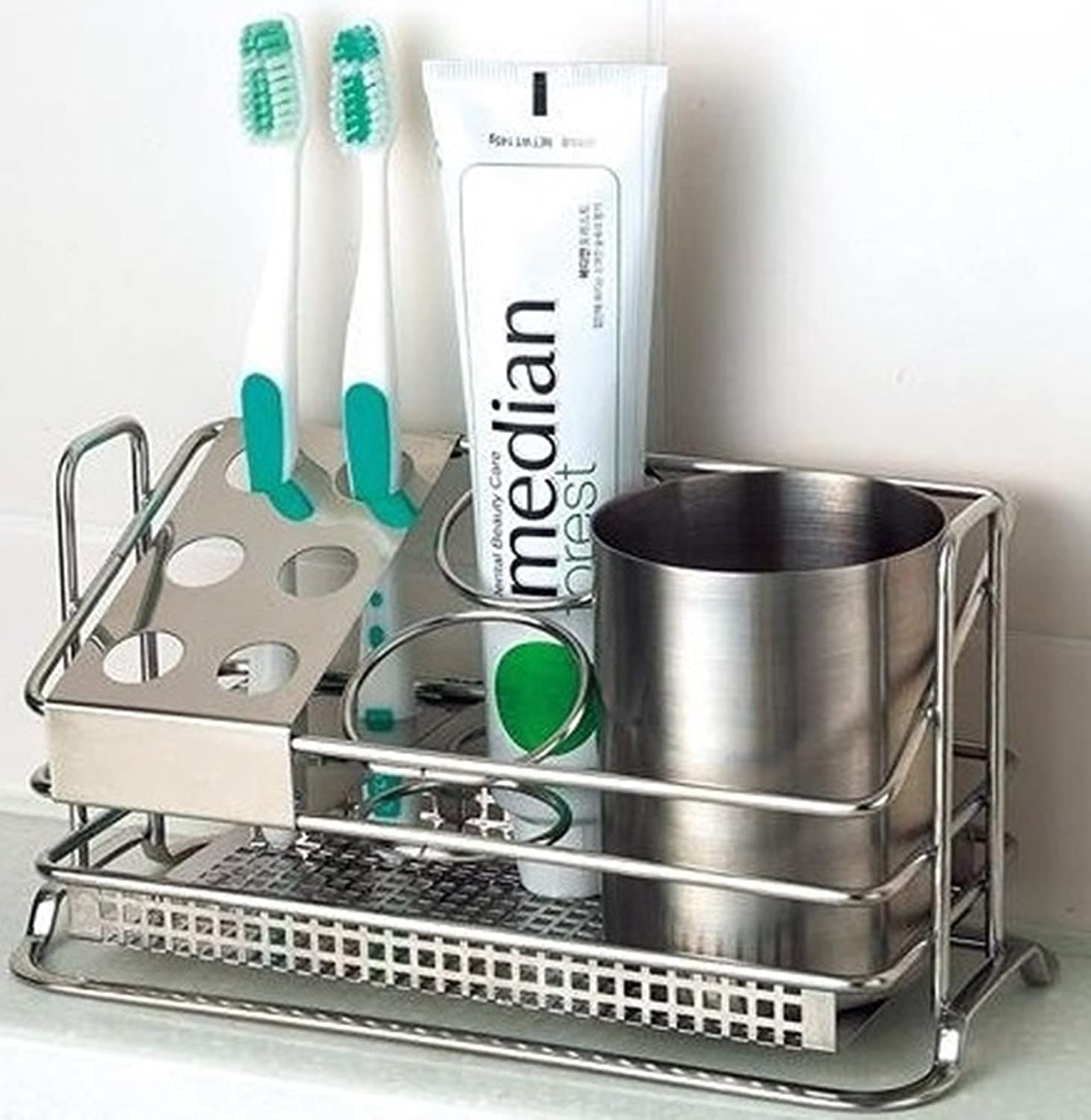 stainless steel toothbrush holder stands toothpaste