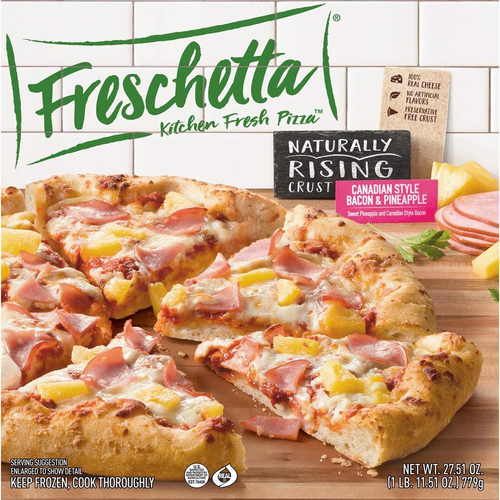 Freschetta, Canadian Bacon & Pineapple Naturally Rising Crust Pizza 27.51 oz ( Frozen)