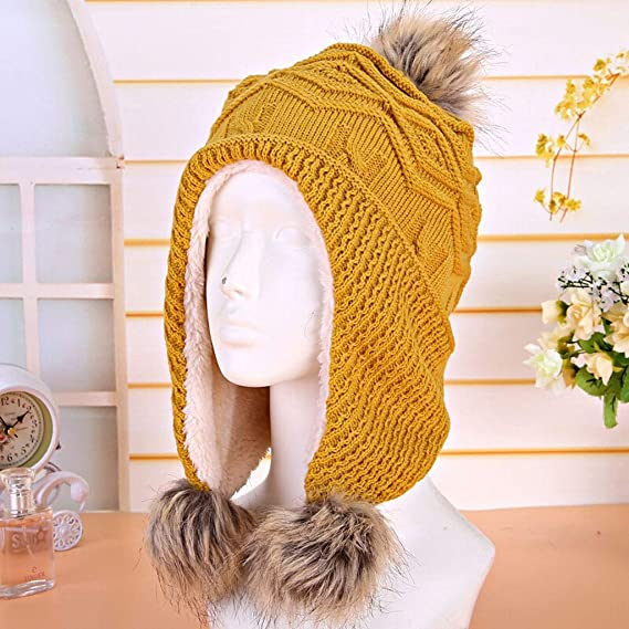 Gorros invierno hombre La lana de las mujeres sombrero de otoño y ...