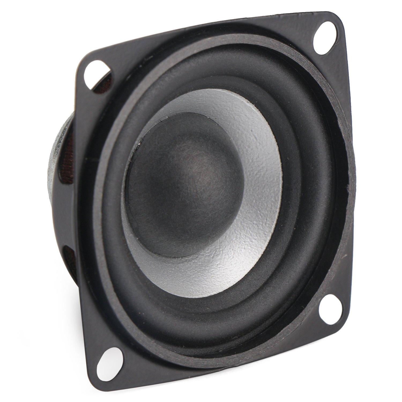 5W Audio Speaker, DROK 2 Inches Mini Stereo HiFi Speaker 4 Ohm Full Range  DIY Loudspeaker Woofer Active Portable Arduino Speaker for Car Auto Motor