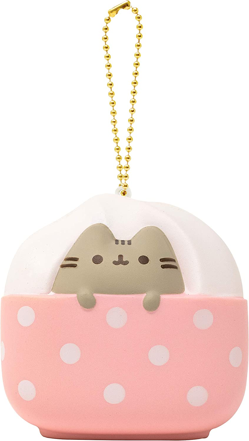 Hamee Pusheen Tabby Cat Junk Food Slow Rising Squishy Toy [Square Series] (Ice Cream) [Christmas Tree Ornaments, Gift Box, Party Favors, Gift Basket Filler, Stress Relief Toys]