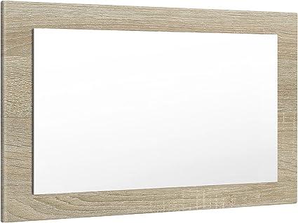 MDF Décor Bois naturel Miroir de porte avec crochets 30 x 120 cm
