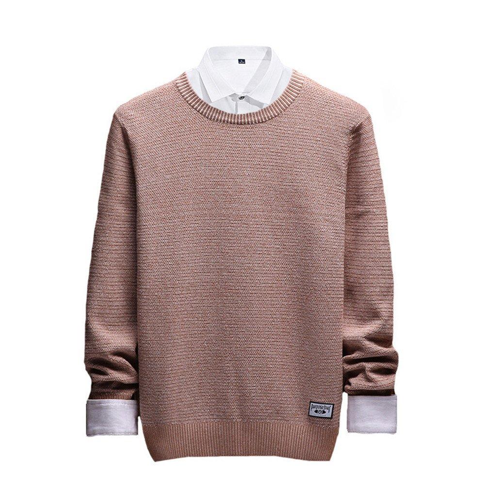 Jdfosvm männer - Pullover, männer - Herbst - Winter - männer - Pullover lässig Pullover um den Hals,Khaki,L