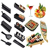 Sushi Maker Kit, 10 Stück Komplett Hause Sushi Making Kit Küche DIY Einfache Koch Set Reis Form Set