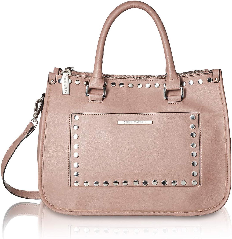 Guess Satchel Bag West Side Flap Satchel Tan in rosa für Damen