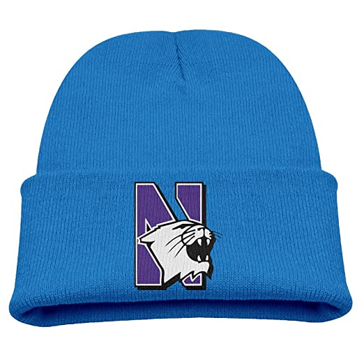 a4388b925e8d4 Northwestern University Football Sign Toddlers Outdoor Winter Beanies Hat  Great For Kids