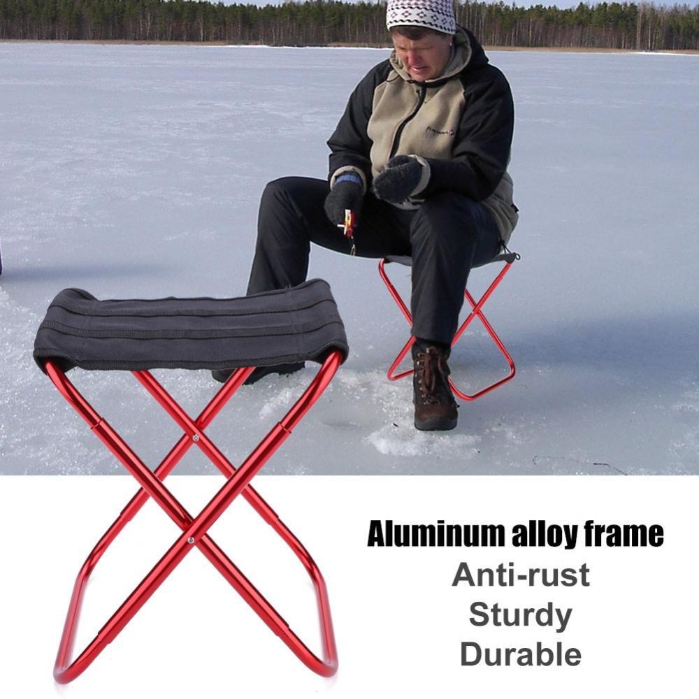 Dilwe portatile sgabello pieghevole esterno leggero qualit/à Oxford pieghevole sedia da campeggio in lega di alluminio pesca sedia per campeggio picnic pesca viaggi e trekking