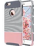 Cover per iPhone 6s, ULAK iPhone 6 Cover con design slim con doppio strato di protezione anti collisioni in silicone per Apple iPhone 6S / iPhone 6 (4.7 pollici), Stripes + Grigio