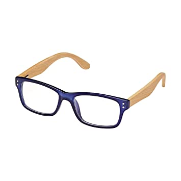 f3136bc116 BLUE PLANET Reading Glasses Eco Friendly Men Women Sustainable Bamboo  Ladies Designer Eyeglasses Blue +2.00