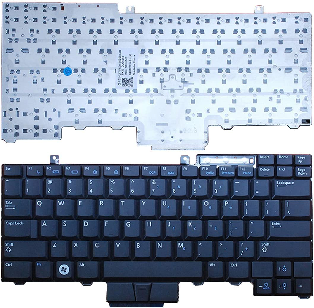 Laptop Replacement Keyboard for Dell Latutude E6400 E6410 E6500 E6510 E5410 E5510 E5400 E5500 Precision M2400 M4400 M4500(Without Pointing) New US Layout Black