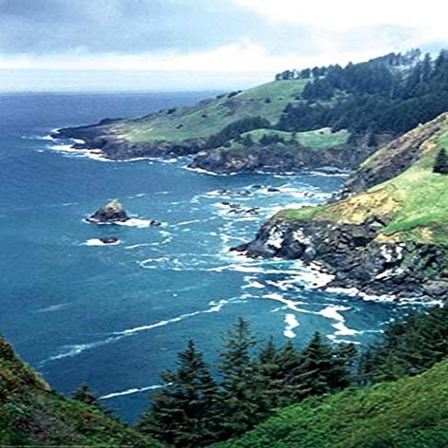 "Buyenlarge 0-587-19719-6-C2030 The Lookout at Otter Crest Gallery Wrapped Canvas Print, 20"" x 30"""
