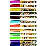 Cello Chhotta Bheem Felt Brush Pen with Flexible Tip - Pack of 12 (Multicolor)