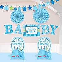 Amscan Shower with Love Boy Room Decorations Kit
