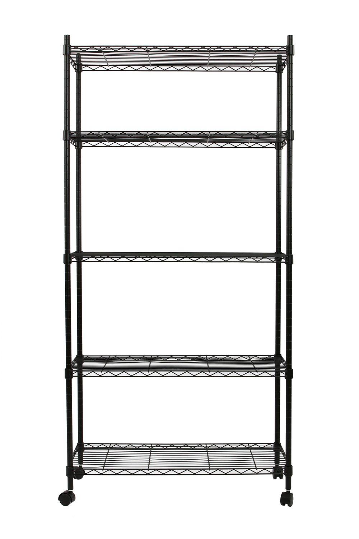 Amazon.com: Finnhomy 5 Tier Wire Shelving Unit 5 Shelves Storage ...