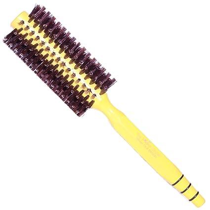 Cepillo de pelo de cerdo de jabalí redondo, para alisar or rizar el cabello,