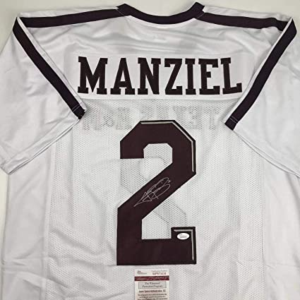 size 40 f3e26 ca6f9 Autographed/Signed Johnny Manziel Texas A&M White College ...