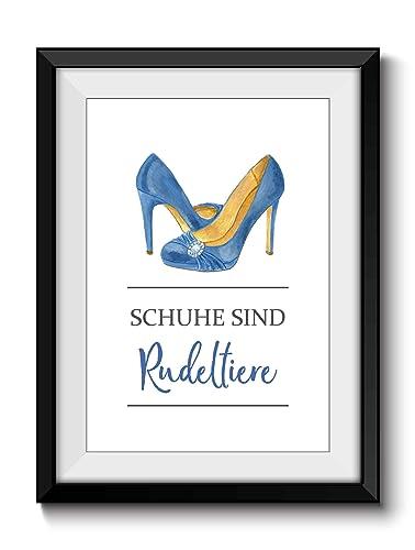 Fine Art Print Din A4 Deko Zuhause Schuhe Rudeltiere 2 Ohne Rahmen