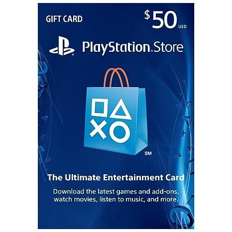 Sony Playstation PSN Dólar de $50 Regalo Tarjeta de prepago ...
