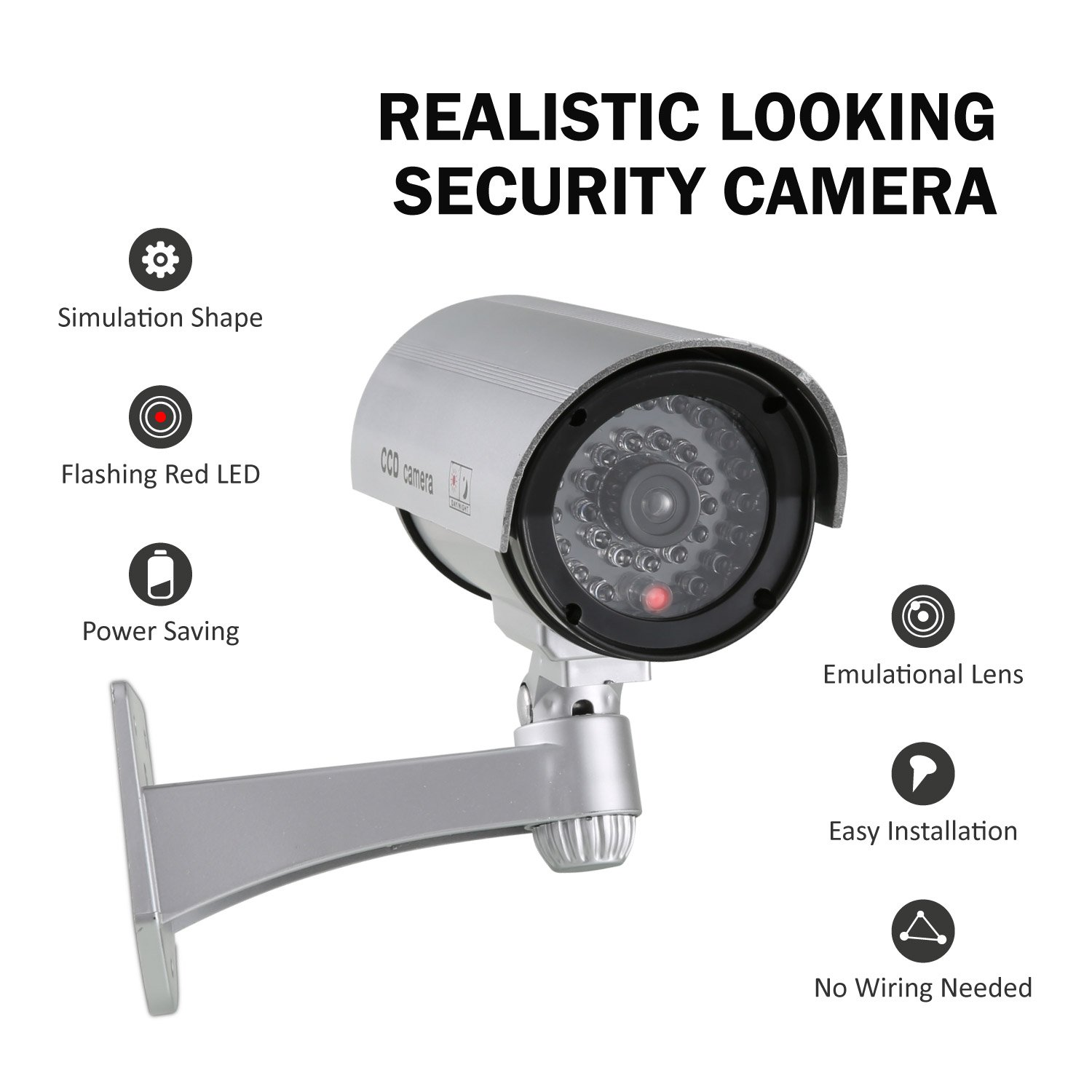 ANNKE 2 Pack Home Security Simulated Cameras with Flashing Red LED for Indoor and Outdoor use by ANNKE (Image #3)