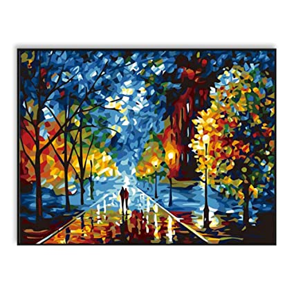 Amazon Com Syjxx Diy Oil Painting By Numbers Acrylics Abstract Wall