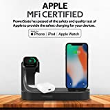 Promate Apple Wireless Charging Station, World's First MFi Certified 18W Power Delivery Charging Dock with 10W Qi Wireless Charging, Apple Watch Charger and 2.4A USB Charging Port,PowerState (Black)