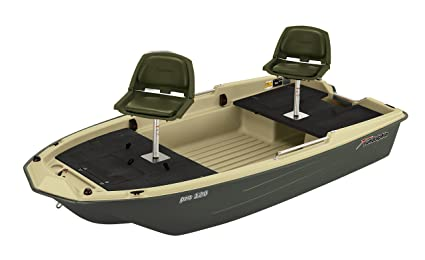 Sun Dolphin Pro 120 Fishing Boat (Beige/Green, 11'3