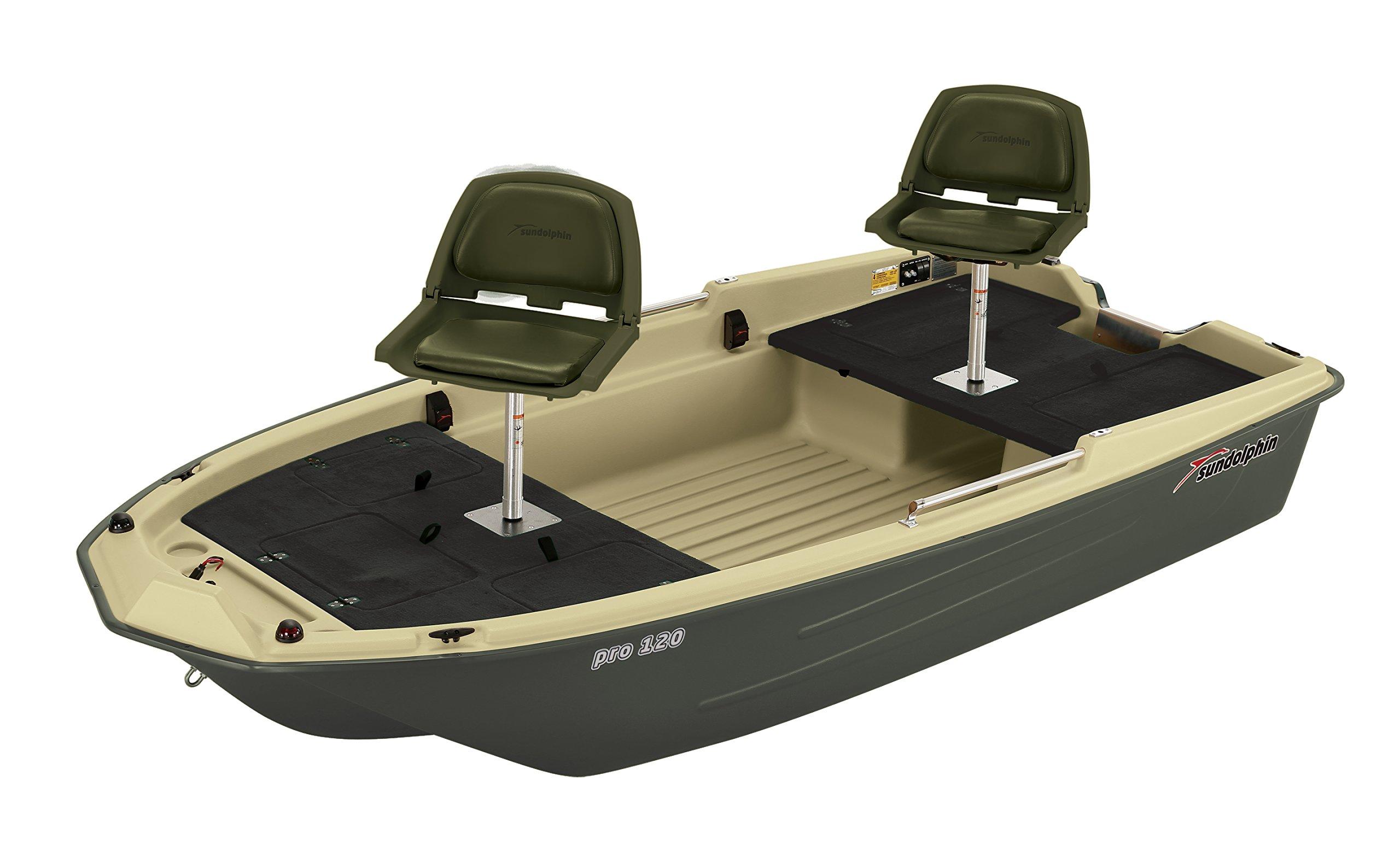 Sun Dolphin Pro 120 Fishing Boat (Beige/Green, 11'3'') by Sun Dolphin