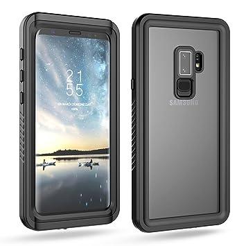 BasicStock Funda Impermeable Samsung Galaxy S9 Plus, [Resistente a los Rayones] [Protección de 360 Grados], Carcasa para Samsung Galaxy S9 + con ...